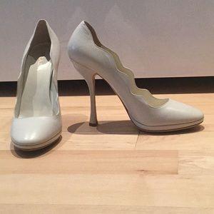 Ivory Leather Prada Heels